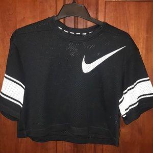 Never been worn black mesh Nike Dri-Fit Crop Top